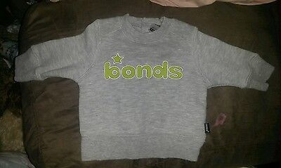 Bonds Boys Size 00 Fleecy Jumper - Washed once