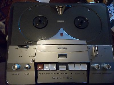 Vintage Classic Philips Automatic Reel 2 Reel Portable Tape Player Recorder