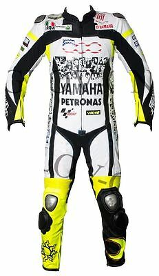 Custom Made VR46 Yamaha Motorbike Motorcycle Racing Leather Suit 1 & 2 Pieces