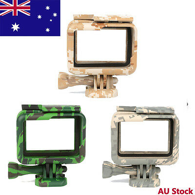 Camouflage Protective Case Skeleton Frame Housing Side Open for GoPro Hero 5/6