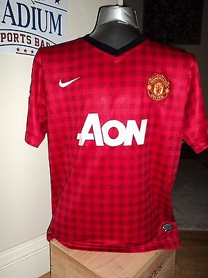 Manchester United Football Soccer Jersey Mens Size L Home Strip EPL Vintage