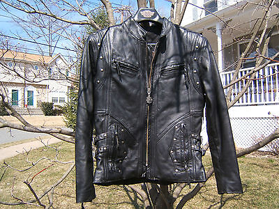 Harley Davidson Leather Jacket Usa Made Springer  Lady Medium