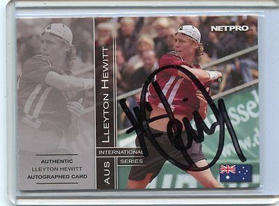 2003 Netpro International Lleyton Hewitt Autograph # 126/500