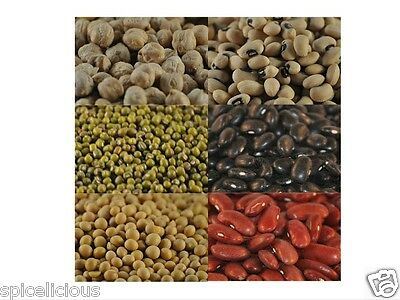 6 Legumes pack | Black turtle beans | Black eyed | Chickpea | Mung | Red kidney