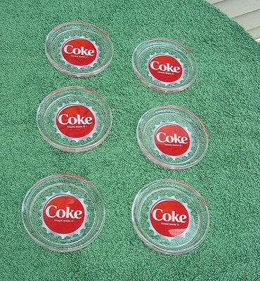 Glass Coke Coca Cola  6 Pieces Coaster Set - Made In France