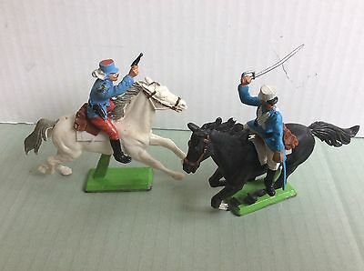 Britains deetail mounted ffl French foreign legion figures x2