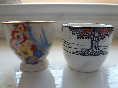 Two Art Deco Pottery Egg Cups