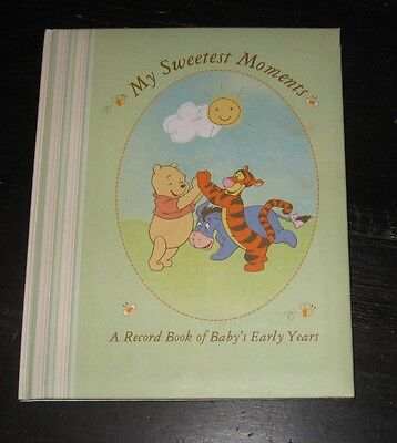 My Sweetest Moments BABY BOOK Record Memories Info Photos WINNIE THE POOH