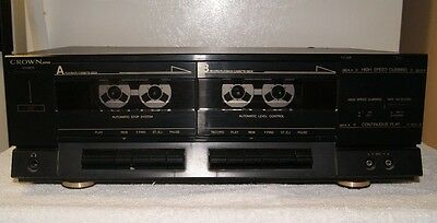 Crown TD-A20 High Speed Dubbing Dual Stereo Tape Cassette Deck