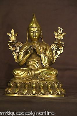 Tibetan antique gilt bronze STATUE BUDDHA sculpture original gold patina 1800's