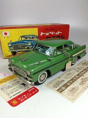 Toyopet Crown BC Bandai 1960s Tin Toy Friction Vintage From Japan