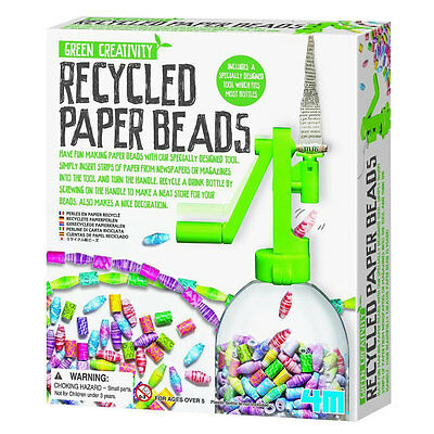 4M Recycled Paper Beads For Kids Science Educational Game Fun Activity Toy Free