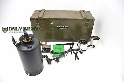 Swiss Army Field Cooker Stove Kitchen Petrol Burner Pressurised Fuel With Box