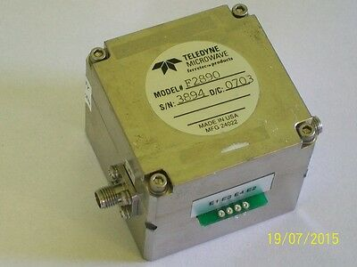 """TELEDYNE FILTRONIC 4 - 40 ghz YIG microwave filter """"K"""" 2.92 mm connector"""