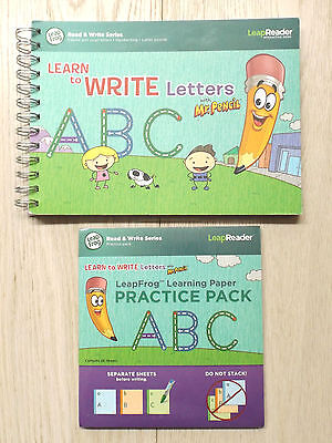 Leapfrog LeapReader - Learn to Write Letters Book (VGC) & Practice Paper (New)