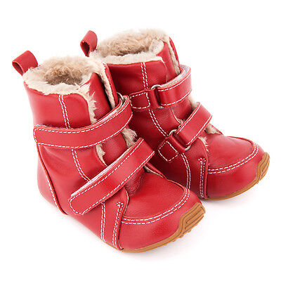 NEW Junior Snug Boots In Red Boy's by SKEANIE