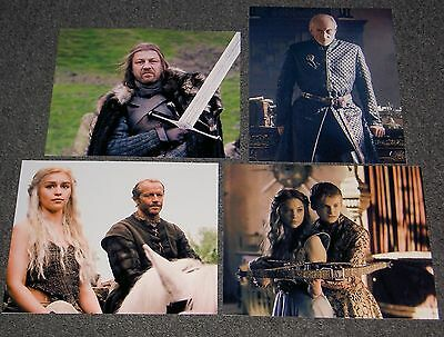 SETS OF FOUR GAME OF THRONES 10 x 8 PHOTO'S,BARGAIN LOT.FREE POSTAGE! SET 04
