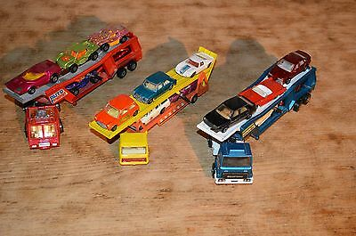 Collection of 15matchbox cars,3 transporters(k10,k11)- dated from 60`s onwards