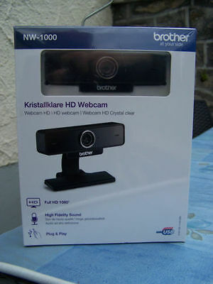 WEBCAM BROTHER NW-1000 FULL HD 1080p autofocus visio conférence son HD SKYPE MSN