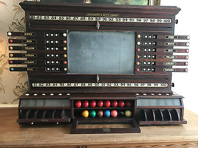Burroughes and Watts Antique Snooker/Life Pool Scoreboard