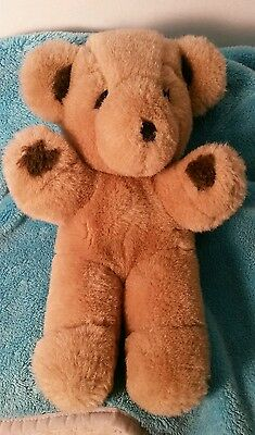 "Gund Stitch Tan Teddy Bear 1979 Vintage 9"" Plush Stuffed Animal Toy HARD to FIND"