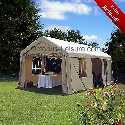 Large Heavy Duty Party Gazebo Marquee Carport Wedding Tent 6 x 3m (Taupe Colour)