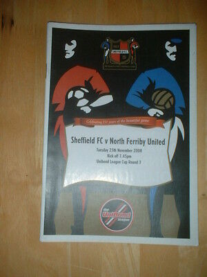 2008/9 Sheffield Fc V North Ferriby - Northern Premier League Cup
