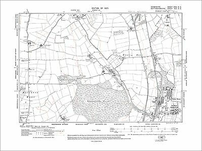 Nether Langwith, Colliery, Whaley (Derby), old map Nottinghamshire 1920: 17NE