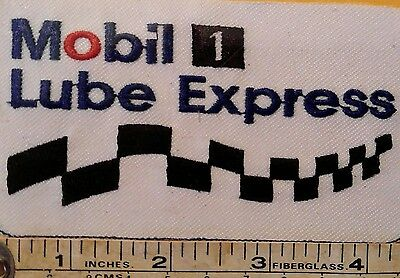 """Mobil One Lube Express Embroidered Logo Iron-Sew on Patch 4.5""""x 2.5"""""""