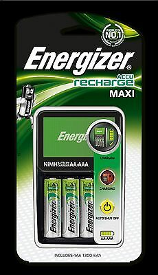 Energizer Maxi Battery Charger (includes 4 x 1300mAh AA Rechargeable Batteries)