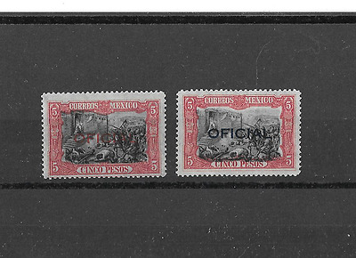 : Mexico Official1927 Scott # O191-O192 Mvlh.