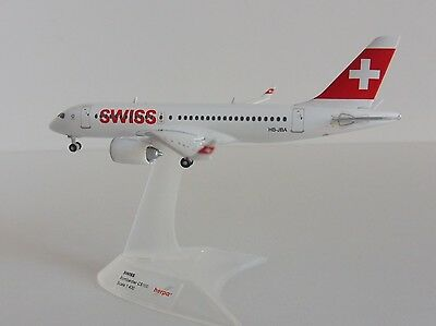 Bombardier CS100 SWISS INTERNATIONAL AIR LINES 1/400 Herpa 562522-001  C-Series