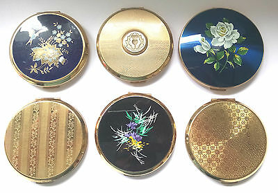 Vintage Stratton Vanity Compacts x 6 Various designs
