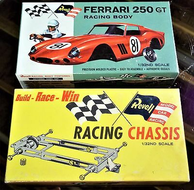 REVELL NICE VINTAGE 1/32 FERRARI 250 GT & CHASSIS Slot Car Boxes Only COX AMT