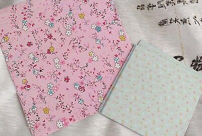 40 JAPANESE PINK GREEN PASTEL COLOR FLORAL ORIGAMI PAPER 10 & 15cm CRAFT CHINESE