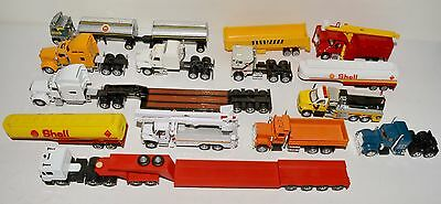 11 pieces of HO scale trucks + 3 trailers, see photos and text, LOT 12