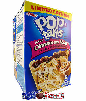 Kelloggs Pop Tarts Frosted Cinnamon Roll Toaster Pastries 8ct 400g BB 12/7/17