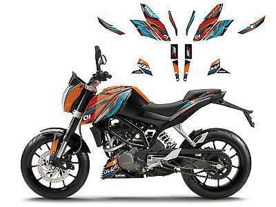 KTM Duke Dekor Set  design Graphic Ktm->DUKE 125-200-390 11>16