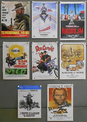 G7456 TERENCE HILL collection of 8 original spanish pressbook