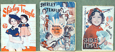 G5658 SHIRLEY TEMPLE Collection of 3 original SPANISH PHOTOPLAY