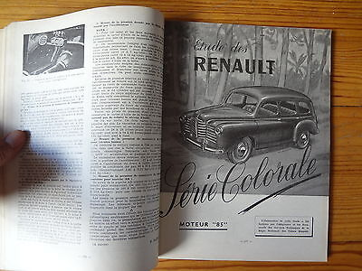 RTA Revue Technique Automobile  n° 83 - RENAULT Colorale - 1953