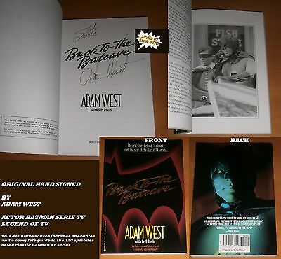 Autografo Adam West Autographed Signed Back To The Batcave Batman Book Autogramm