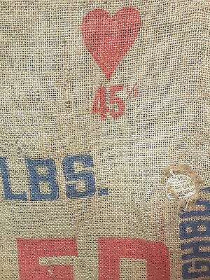 Vintage DOUGHBOY Feed Concentrate Burlap Sack Do Better with Doughboy Bag