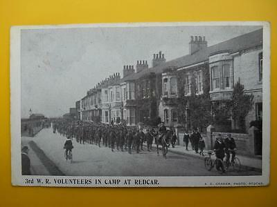3rd West Riding Volunteers in Camp at REDCAR Yorkshire *Vintage* A E Graham 1908