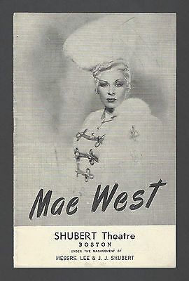 "Mae West ""CATHERINE WAS GREAT"" Ray Bourbon / Michael Todd 1945 Boston Playbill"