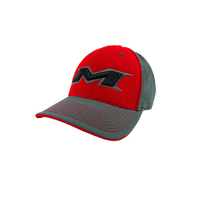 Miken Hat by Pacific (404M) Charcoal/Charcoal/Red/CH/BK YOUTH (6 3/8- 6 7/8)