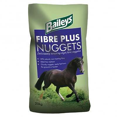 20KG BAILEYS FIBRE PLUS NUGGETS Horse Food Feed OR AS A TREAT
