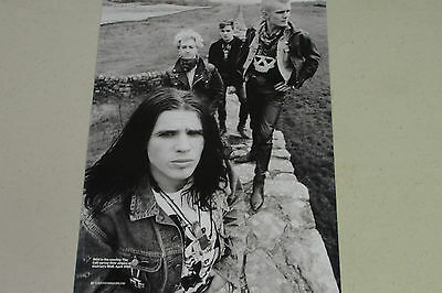 THE CULT Full Page Pinup magazine clipping posing on Hadrian's Wall 1985