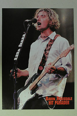 BUSH Gavin Rossdale Full Page Pinup magazine clipping mid 1990's