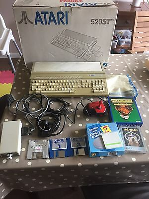 Atari 520 ST Computer Console Boxed Bundle - Tested - Free Post
